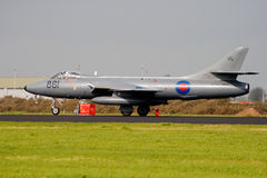 Hawker Hunter fighter jet Royalty Free Stock Images
