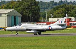 Hawker Hunter inverted Stock Photography