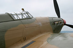 Hawker Hurricane. World War II British fighter aircraft Stock Photos