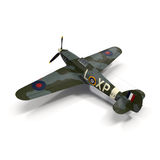 Hawker Hurricane Aircraft isolated on white 3D Illustration Stock Images