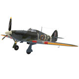 Hawker Hurricane Aircraft isolated on white 3D Illustration Stock Photo