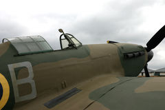 Hawker Hurricane cockpit and engine view. Stock Photos