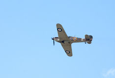 Hawker Hurricane flies Stock Image