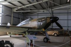Hawker Hurricane. A World War II era fighter aircraft, famous for participating in the Battle of Britain, in the Malta Aviation Museum Stock Photography