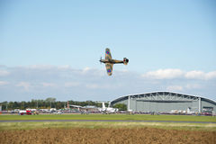 Hawker Hurricane R4118 at Duxford air show Royalty Free Stock Photography