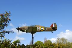 Hawker Hurricane Replica On A Pole Stock Images
