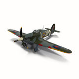 Hawker Hurricane WWII Fighter Isolated on White Background Stock Photography