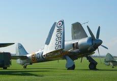 Hawker Sea Fury on the flight lane Stock Image
