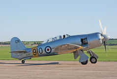 Hawker Sea Fury taxis for takeoff Stock Photography