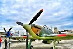 Hawker Sea Hurricane fighter plane royalty free stock photography