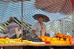 Hawker Selling fruit Stock Photography