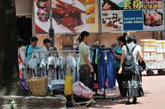 Hawker Selling at street Royalty Free Stock Photos