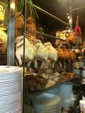 Hawker stall selling chicken rice Royalty Free Stock Images