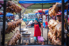 Hawkers at the bazaar Ramadan. Hawkers selling all kinds of food and beverages at the bazaar Ramadan stock image