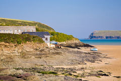 Hawkers Cove. Near Padstow on the Camel Estuary Cornwall England UK royalty free stock image
