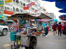 A hawkers street foods in Hatyai, Thailand. A hawkers street foods in Hatyai, Southern Thailand stock photography