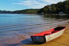 Hawkesbury flod, Brooklyn New South Wales, Australien Royaltyfri Fotografi