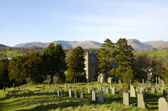 Hawkeshead Church, Lake District Stock Image