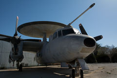 Hawkeye E-2 closeup. Ground photo Stock Images
