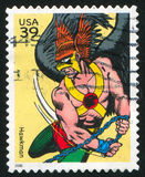 Hawkman. UNITED STATES - CIRCA 2006: stamp printed by United states, shows Hawkman, circa 2006 stock photography