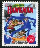 Hawkman. UNITED STATES - CIRCA 2006: stamp printed by United states, shows Hawkman, circa 2006 royalty free stock photo