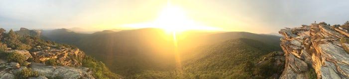 Hawksbill au coucher du soleil Image libre de droits