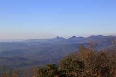 Hawksbill Mountain. View of Hawksbill Mountain in North Carolina during the fall royalty free stock photography