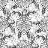 Hawksbill sea turtle pattern Royalty Free Stock Images