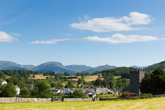 Hawkshead Lake District England uk on a beautiful sunny summer day popular tourist village Stock Images