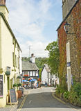 Hawkshead: narrow street. Royalty Free Stock Photo