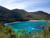 Hawksnest Bay on St John stock photo