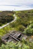 Haworth amarra Cumbres borrascosas, país de Bronte yorkshire inglaterra Imagen de archivo libre de regalías