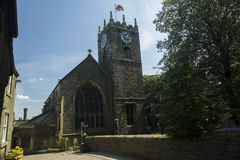Haworth Church. General view of Haworth Church, the Church of St Michael and All Angels, historic home of the Bronte sisters, in West Yorkshire, England Stock Images