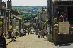 Haworth main street Royalty Free Stock Photography