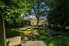 Haworth-Pfarrhaus West Yorkshire, England lizenzfreie stockfotos