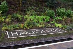 Haworth znak Zdjęcia Stock
