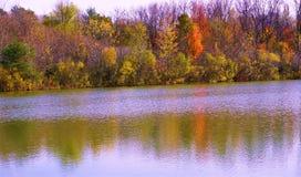 Haworthorn damm i höst nära Holland MI fotografering för bildbyråer