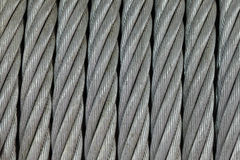 Hawser. Thick steel hawser, a close up, background Royalty Free Stock Photo