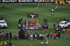 Hawthorn AFL Premiers 2015 MCG Melbourne Victoria Australia. Hawthorn Australian Football Premiers AFL for 2015 beating the West Coast Eagles at the MCG Royalty Free Stock Photos