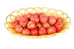 Hawthorn fruit in basket Royalty Free Stock Photos