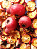 Hawthorn fruit and dried fruit Royalty Free Stock Images