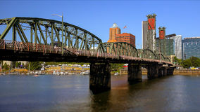 Hawthorne Bridge Over Willamette River in Portland Royalty Free Stock Photography