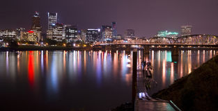 Hawthorne Bridge Willamette River Portland Oregon Royalty Free Stock Image