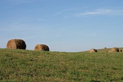 Hay. Countryside of rural North Dakota Stock Photography