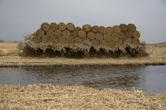 Hay. Bales countryside The Netherlands Royalty Free Stock Photography
