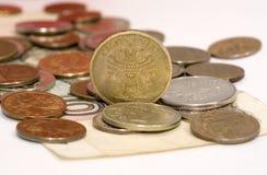 Monedas de la rublo Fotos de archivo libres de regalías
