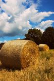 Hay away!. Hay stretched out over the land Royalty Free Stock Photos