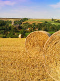 Hay bails Stock Image