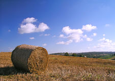 Hay Bale. And a view Stock Photography