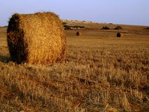 Hay Bale. S at sunset, Cape Greco, Cyprus Royalty Free Stock Photos